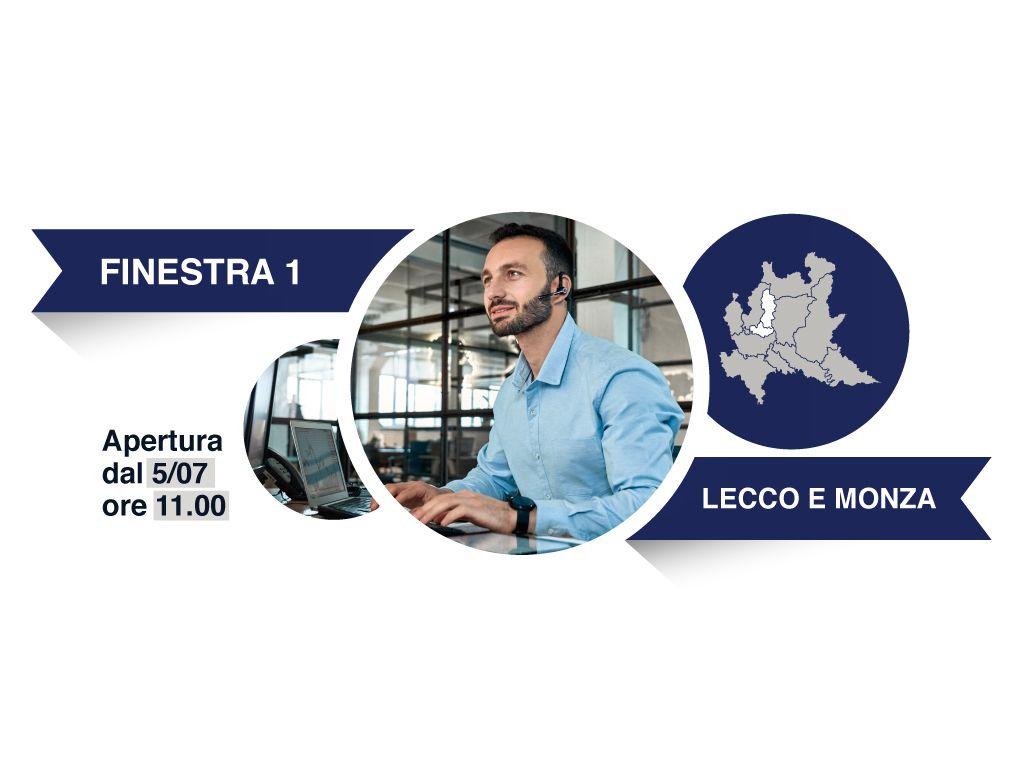 Finestra 1, Province: Lecco, Monza e Brianza - Avviso a favore degli intermediari del commercio