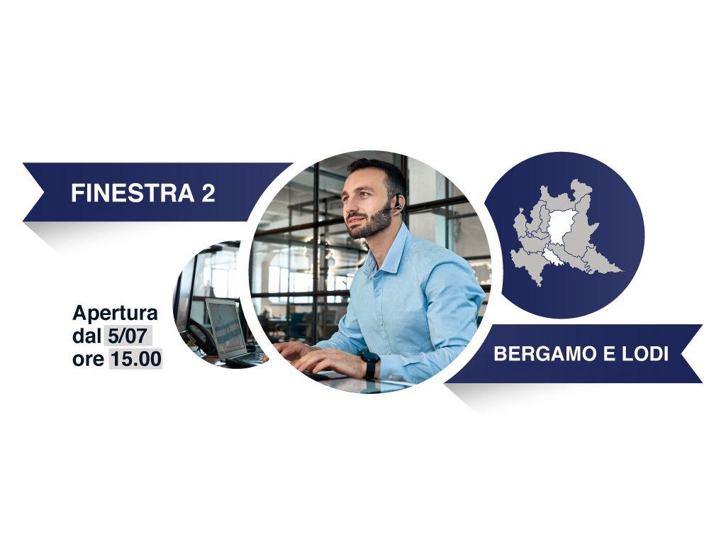Finestra 2, Province: Bergamo, Lodi - Avviso a favore degli intermediari del commercio