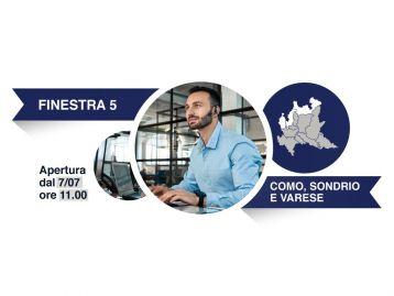 Finestra 5, Province: Como, Sondrio, Varese - Avviso a favore degli intermediari del commercio