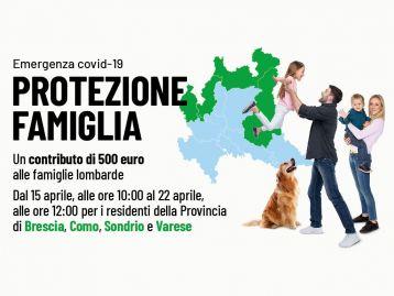 Protezione Famiglia Emergenza COVID 19 - Province  di Brescia, Como, Sondrio e Varese