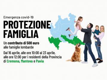 Protezione Famiglia Emergenza COVID 19 - Province di Cremona, Mantova e Pavia