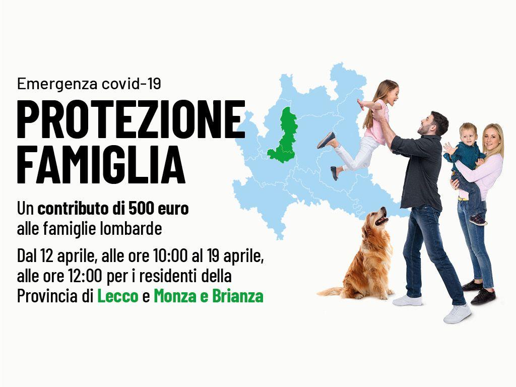 Protezione Famiglia Emergenza COVID 19 - Province di Lecco e MonzaBrianza
